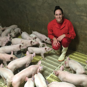 Casey vd Bergh and piglets
